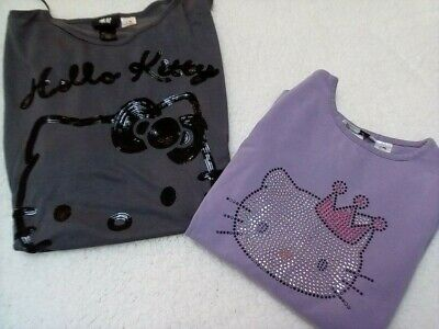 H&M Hello Kitty Girls/Womens tops x 2 - Size US7-8 & US 8-10