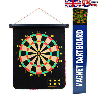 "Large 15"" Magnetic Dart Board Set Dartboard With 6 Darts Family Party Game Fun"