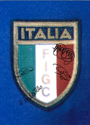 Italy FC Autographs Multi Signed 16 x 12 inch authentic football photo SS1236B