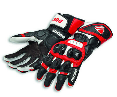 DUCATI Alpinestars SPEED EVO C1 Racing Leder Handschuhe Gloves rot NEU !!