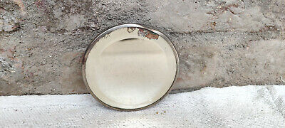 1920s Vintage Belgium Glass Round Mirror Vanity Collectables Belgium