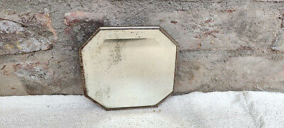 1920s Vintage Belgium Glass Octagonal Mirror Vanity Collectables Belgium