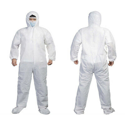 Protective Suit Durable Isolation Disposable One-piece Hooded Elastic Clothing