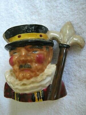 "1940s THORLEY BONE CHINA Ltd., Longton England BEEFEATER 3"" Toby Character Jug"