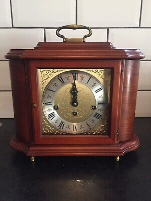Westminster 4/4 Chime And Strike Mantle Clock Key Winding(working Perfectly)