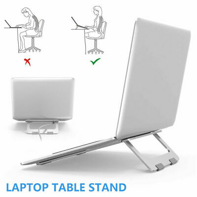 Adjustable Laptop Stand Table Folding Desk Bed Tray Computer Study Portable New