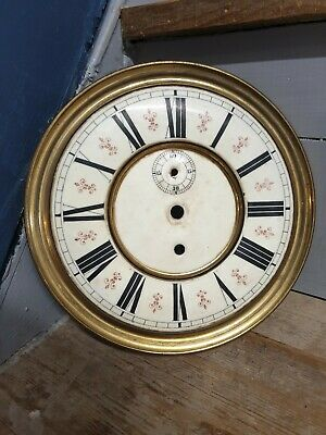 Antique Clock Face Grandfather Grandmother Time Brass