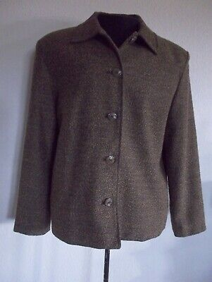Briggs New York Jacket Blazer Petite Large With Black Shell Size 14