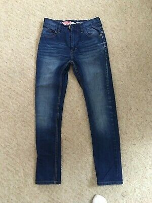 Next Boys Blue Jeans Size 11 Years Elasticsted Waist in VGC