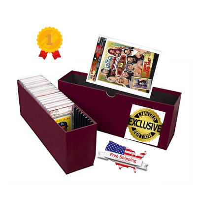 Slotted Graded Card Shoe Storage Boxes Row PSA Beckett Sport Topload/Certified