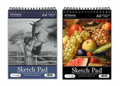 A4 Sketch Pad Book White Paper Artist Sketching Drawing Doodling Art Craft