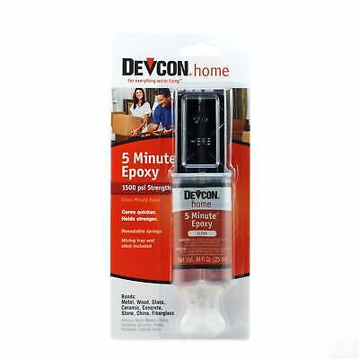 Devcon 20845 5 Minute Epoxy Strong & Fast Incl. Mixing Tray 25 ml (84 fl oz)