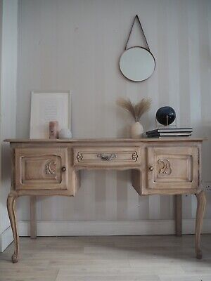 French Louis Xv Style Vintage Dressing Table Console Table Limed Oak