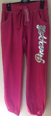 New With Tags Girls Pineapple By Debbie Moore Pink Joggers Size 13 Years