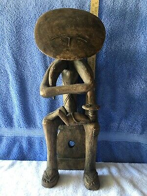 """Large 22"""" African Tribal Mother & Child Carved Wooden Statue Sculpture"""