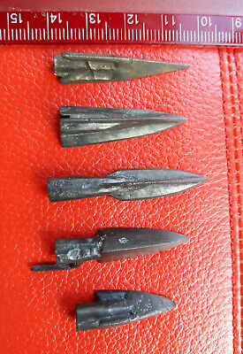 5 Ancient bronze arrows. Very Rare!!!