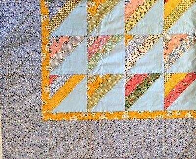 2002 HANDMADE BABY GIRL BOY TODDLER QUILT  CRIB  BLANKET  Signed by Maker