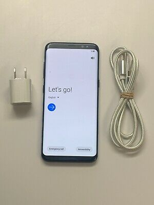Samsung Galaxy S8 SM-G950U 64GB Black Verizon + GSM Unlocked Smartphone 8/10