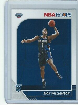 2019 20 Panini Hoops Zion Williamson ROOKIE CARD Pelicans RC #258