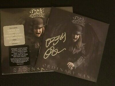 OZZY OSBOURNE Ordinary Man Deluxe Softpack CD + Autographed CD Booklet SHIPS NOW