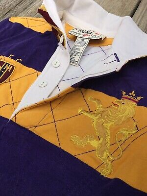 Rugby By Ralph Lauren Polo Mens Striped Rugby Shirt M/L Ivy Cup R.L.F.C RLFC LSU