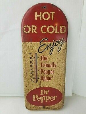"Vintage 1950's Dr. Pepper ""Hot or Cold"" Thermometer"