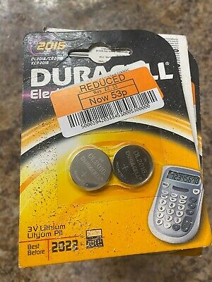 86 X Duracell CR2016 3V Lithium Coin Cell Battery 2016 DL2016 BR2016 SB-T11