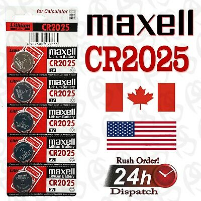 5 pecs MAXELL CR2025 / BR2025 / DL2025 Lithium Battery 3V, Exp. 2027