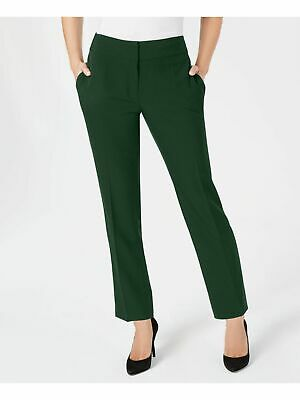 KASPER $79 Womens New 1305 Green Stretch Crepe Slim Leg Pants 16 B+B