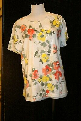 Croft Barrow womens Spring floral top NWT The Classic tee size XXL easy care