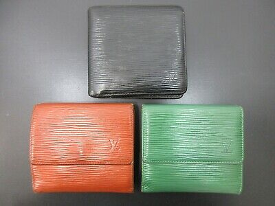 Authentic 3 Item Set LOUIS VUITTON Epi Wallet Leather 82717