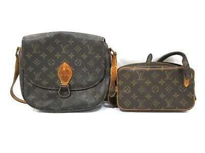 Authentic 2 Item Set LOUIS VUITTON Monogram Shoulder Bag PVC Leather 82877