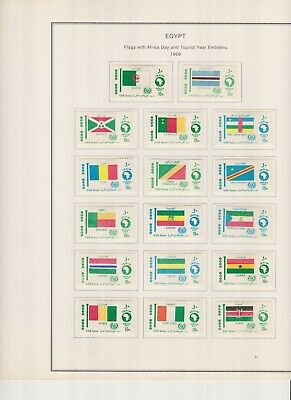 Egypt complete set of 41 African flags mint hinged SG CV £75 (AU$153)