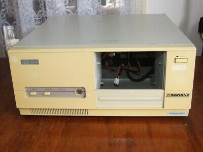 Vintage Osborne Desktop AT computer case & 200W power supply from 286 386 era
