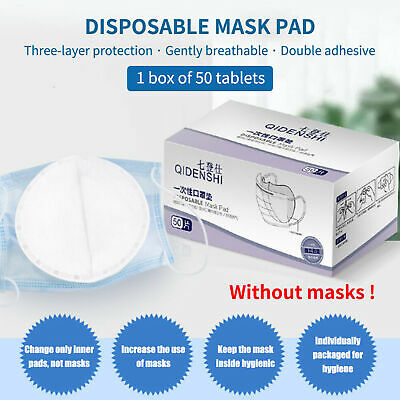 50PCS Face Mask Gasket Round Adhesive Mouth Anti Filter Replacement Pad