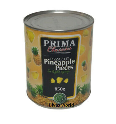 Prima Classics Tin Pizza Cut Pineapple Pieces In Light Syrup 850g Brand New