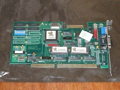 Eagle VGA4000 512K 16-bit ISA VGA video card also works on 8-bit PC XT computer