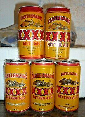 Collectable beer cans: Set of 5 Castlemaine XXXX Bitter Ale beer cans
