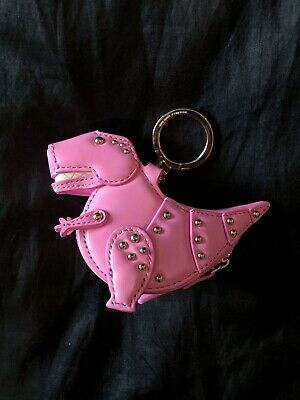 Kate Spade Whimsies T-Rex Dinosaur Coin Case, Bag Charm, Keychain Pink Gold Rare