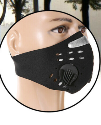 1 Black + Filters Dustproof COVER Mouth FACE Bike Pollution Breathable Smog Dirt