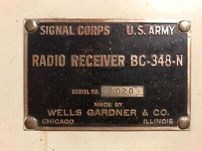 Radio BC-348 Support FT-154 Et Connecteur SCR Signal Corps USAF BOMBARDIER
