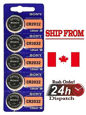 5 pcs SONY CR2032, Button Cell Lithium Battery 2032, 3V, 220mAh. Exp. 2029