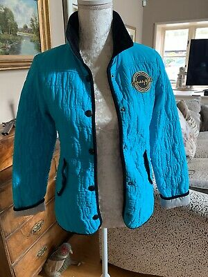 Pineapple Dance Girls Black Blue  Trim Quilted Jacket Coat Top Age 11 12. Super!