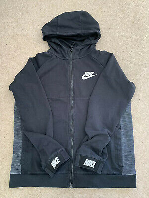 Nike Zip Through Hoodie Age 13-15. Black