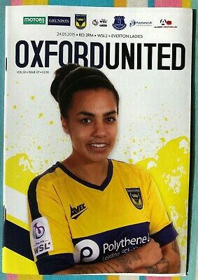 Oxford United Women v Everton Ladies - WSL2 League Programme - Played 24/05/2015