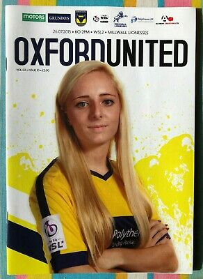 Oxford United Women v Millwall - WSL2 League Programme - Played 26/07/2015