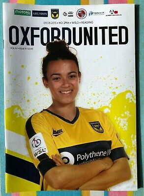 Oxford United Women v Reading Women - WSL2 League Programme - Played 09/08/2015