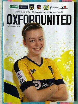 Oxford United Women v Yeovil Town Ladies -WSL Continental Cup- Played 23/07/2015
