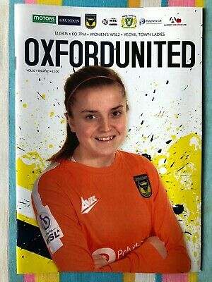 Oxford United Women v Yeovil Town Ladies - WSL2 League Programme - 12/04/2015