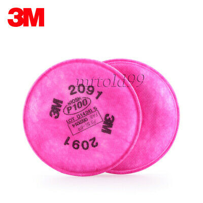 2Pcs=1 Packs 3M 2091 Particulate Filter P100 for 6000 7000 Series